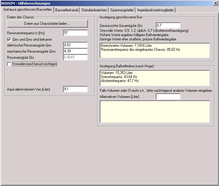Frequenzweiche Berechnen Software Update - crisepanama